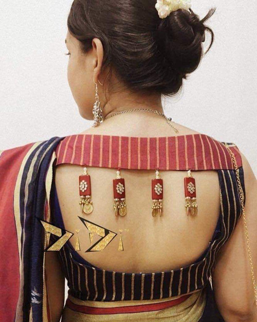 Kalamkari Saree Work Blouse Designs (12)