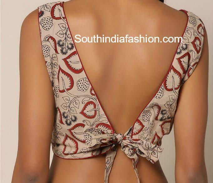 Kalamkari Saree Work Blouse Designs (121)