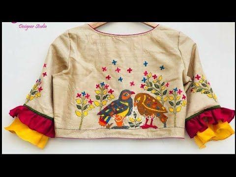 Kalamkari Saree Work Blouse Designs (13)