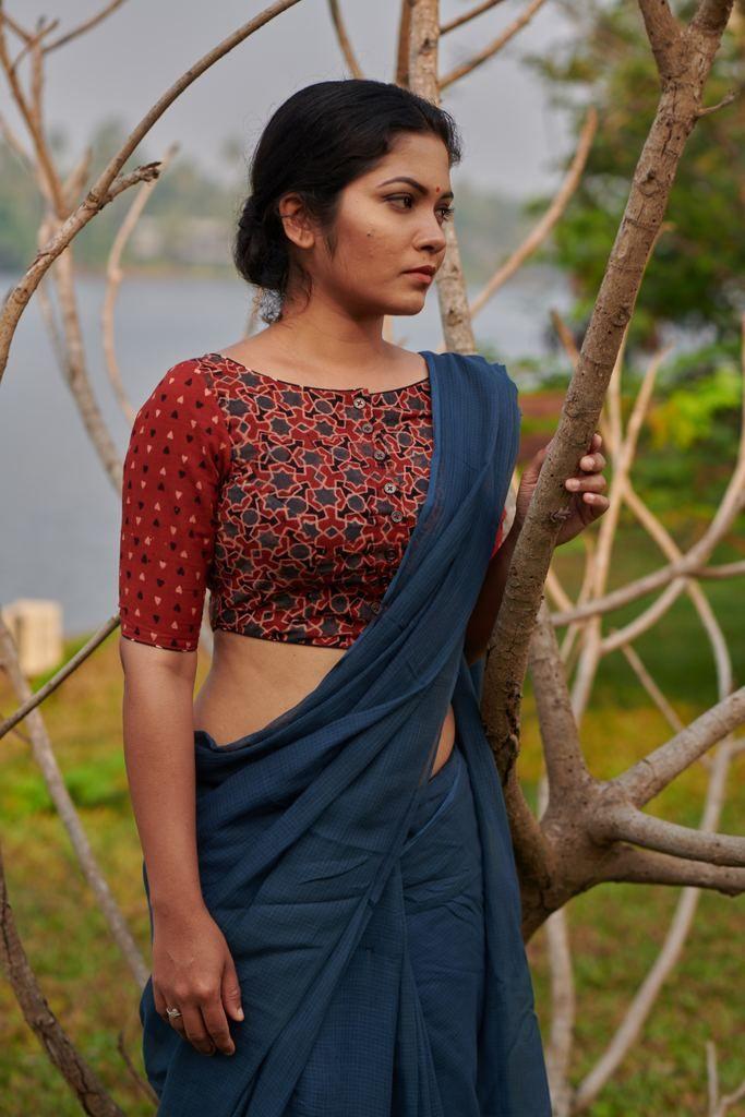 Kalamkari Saree Work Blouse Designs (130)