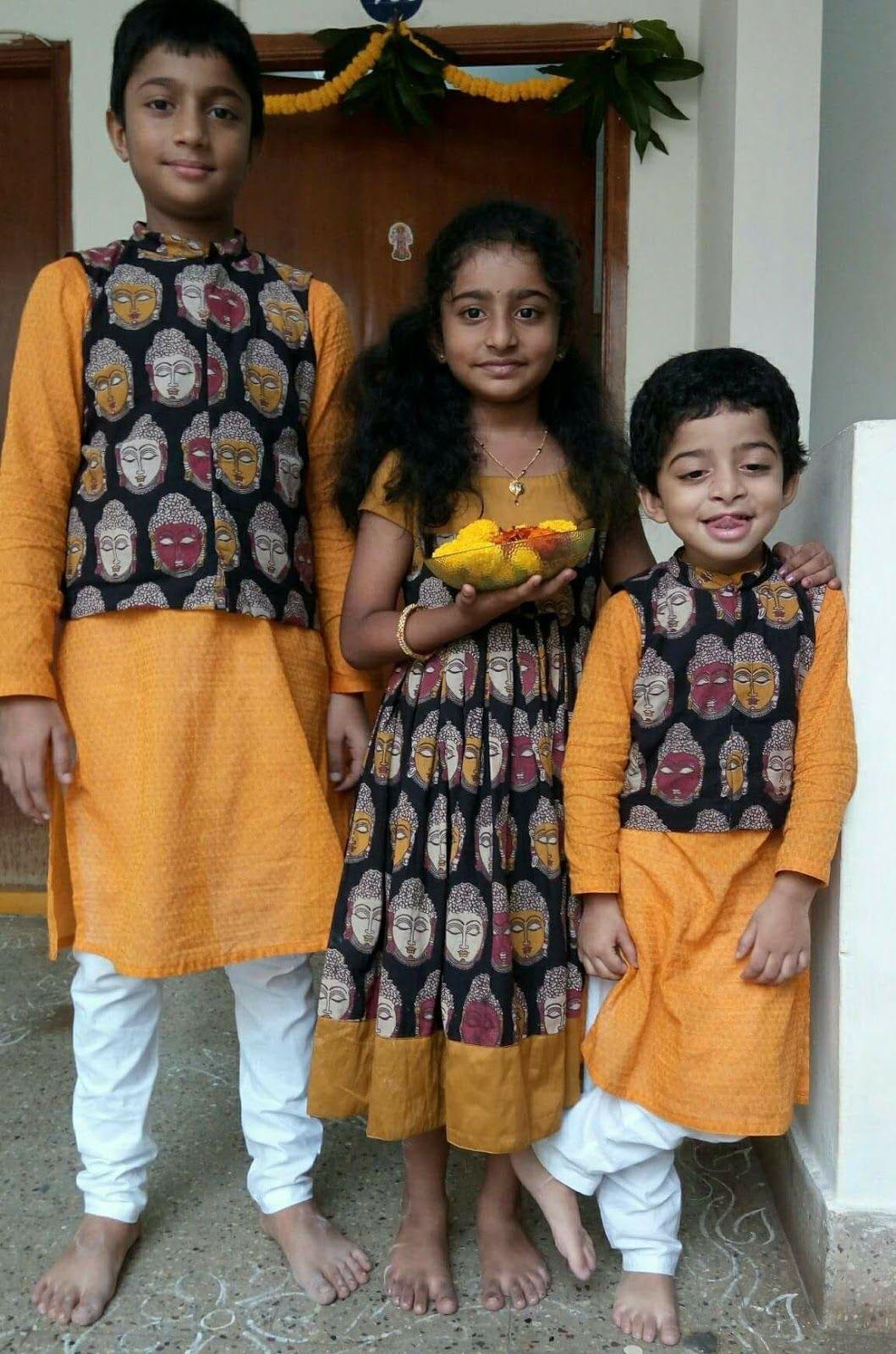 Kalamkari Saree Work Blouse Designs (133)