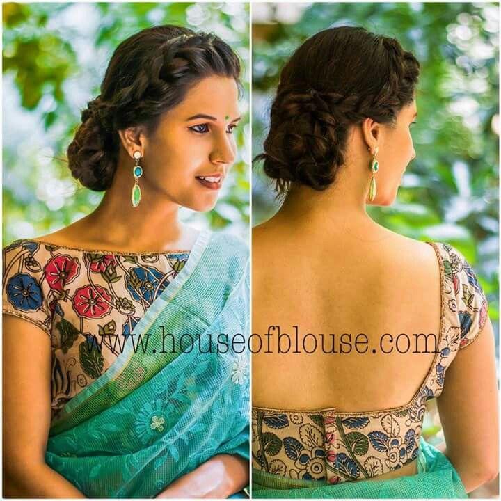 Kalamkari Saree Work Blouse Designs (134)