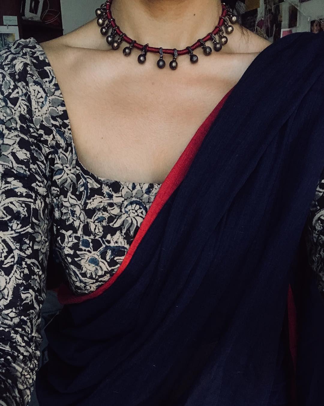 Kalamkari Saree Work Blouse Designs (136)