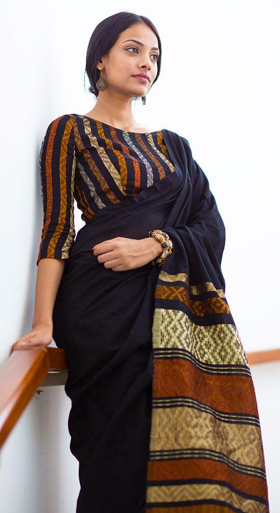 Kalamkari Saree Work Blouse Designs (137)