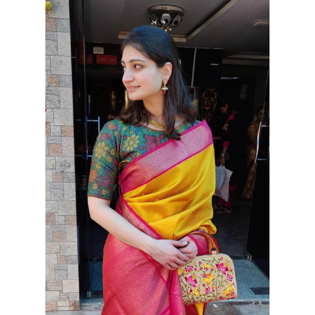 Kalamkari Saree Work Blouse Designs (14)