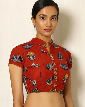 Kalamkari Saree Work Blouse Designs (140)