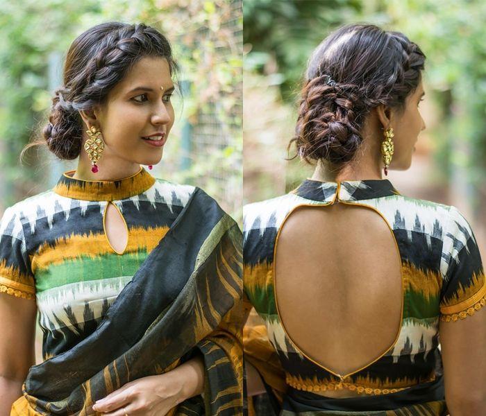 Kalamkari Saree Work Blouse Designs (142)