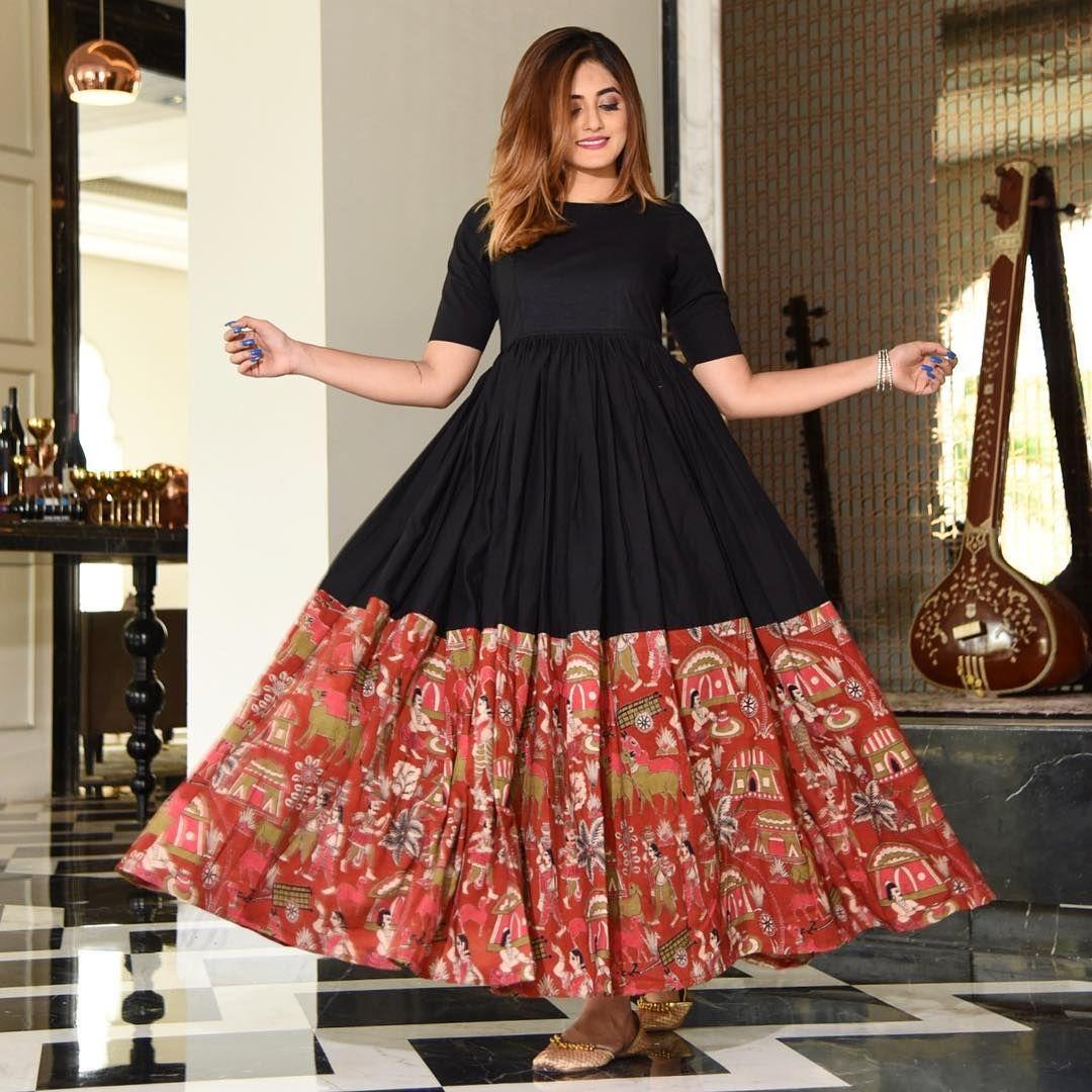 Kalamkari Saree Work Blouse Designs (146)