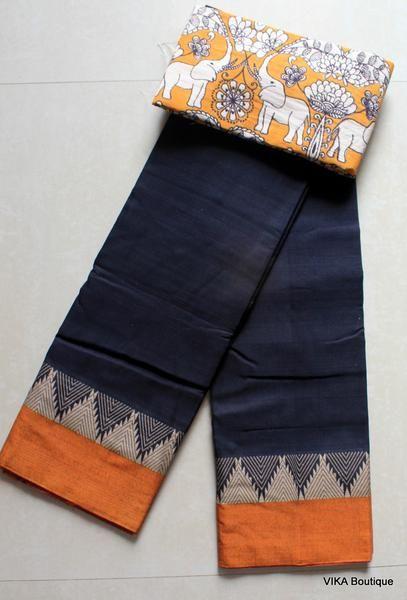 Kalamkari Saree Work Blouse Designs (148)