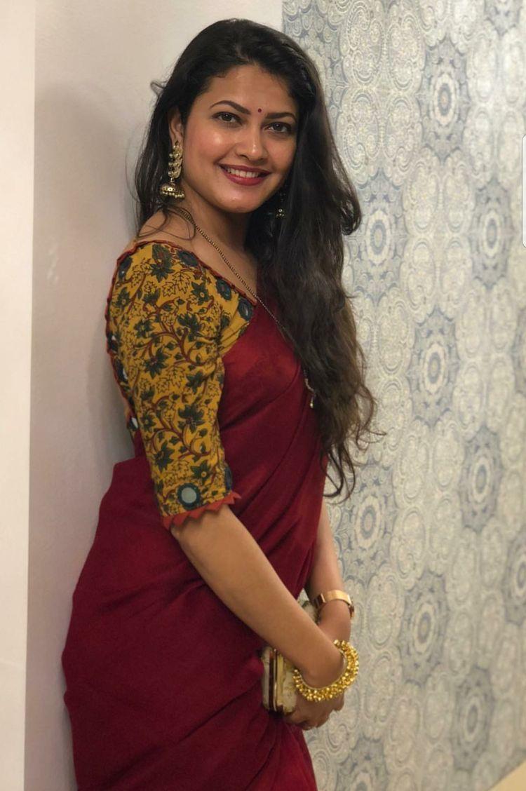 Kalamkari Saree Work Blouse Designs (149)