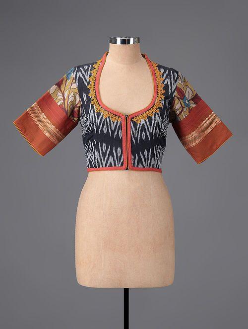 Kalamkari Saree Work Blouse Designs (151)