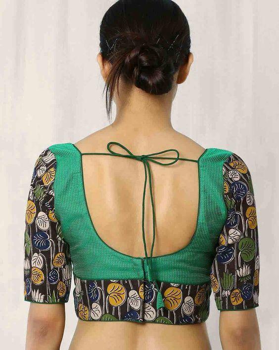 Kalamkari Saree Work Blouse Designs (152)