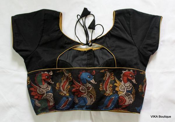 Kalamkari Saree Work Blouse Designs (154)