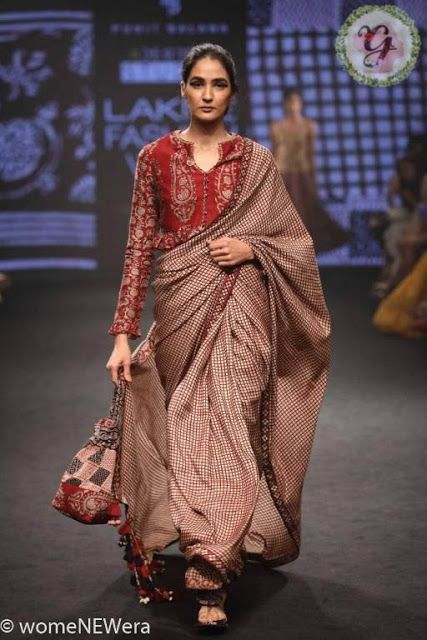 Kalamkari Saree Work Blouse Designs (157)