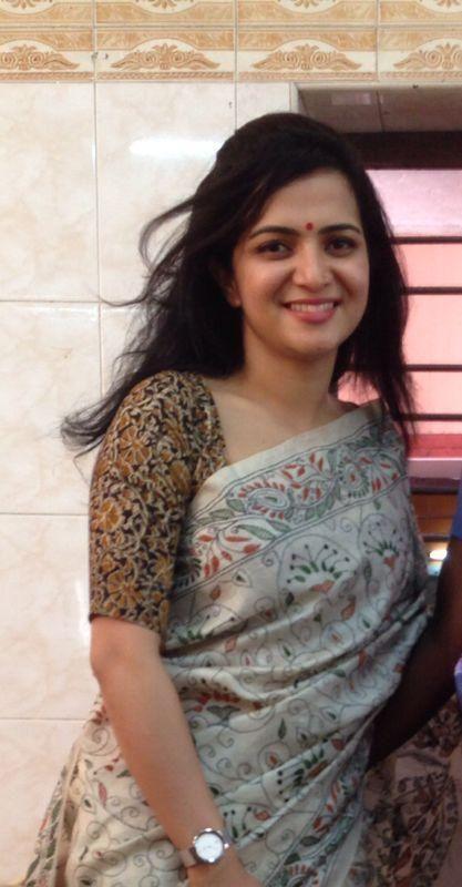 Kalamkari Saree Work Blouse Designs (158)