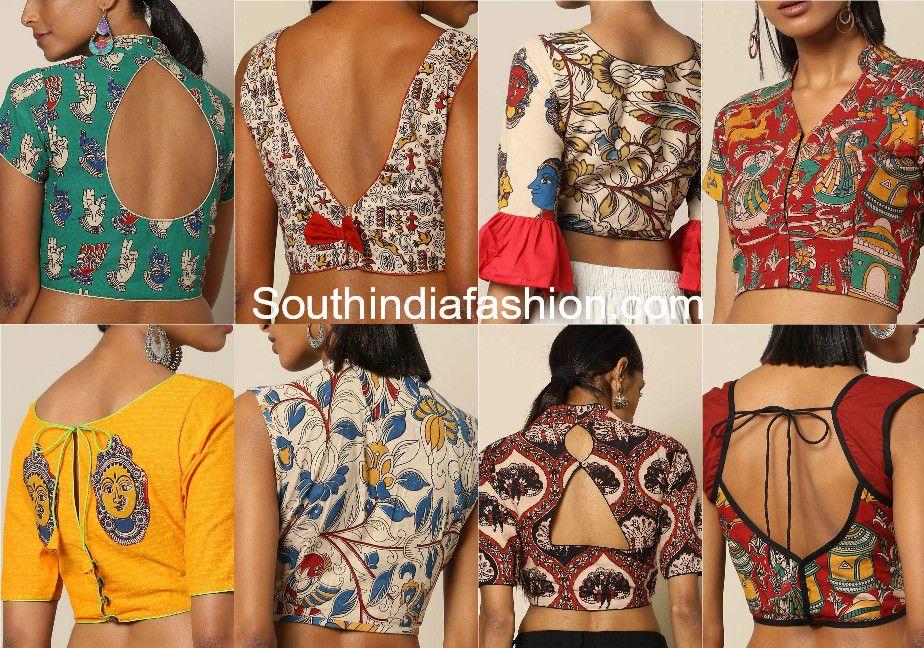 Kalamkari Saree Work Blouse Designs (16)