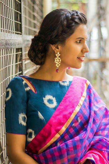Kalamkari Saree Work Blouse Designs (161)