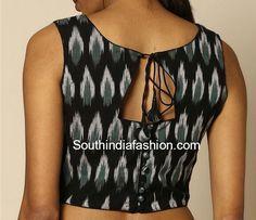 Kalamkari Saree Work Blouse Designs (163)