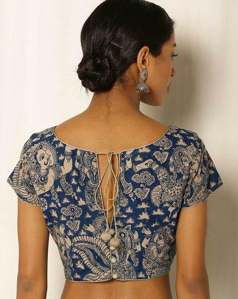 Kalamkari Saree Work Blouse Designs (166)
