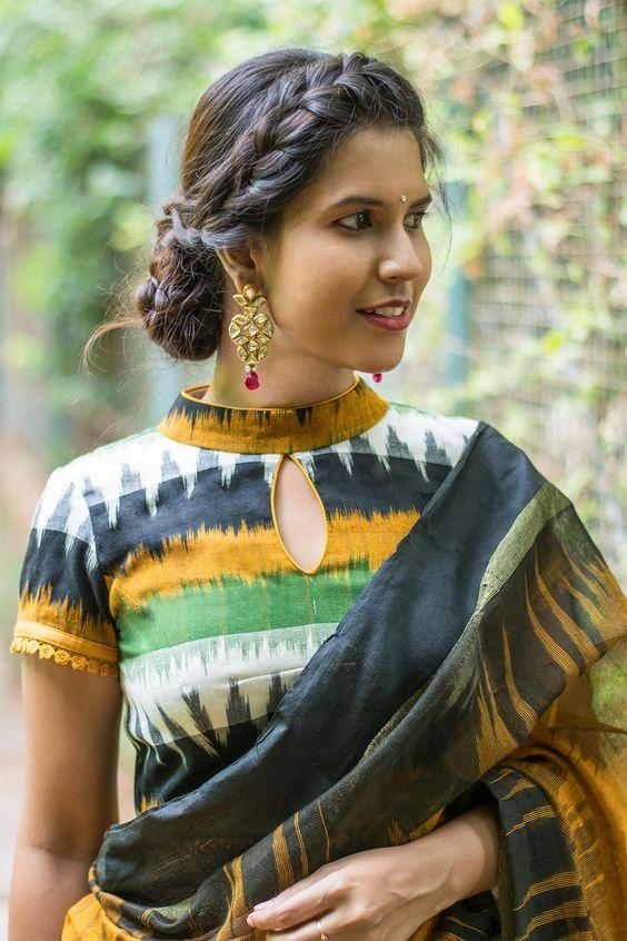 Kalamkari Saree Work Blouse Designs (168)