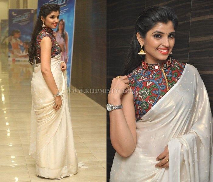 Kalamkari Saree Work Blouse Designs (17)