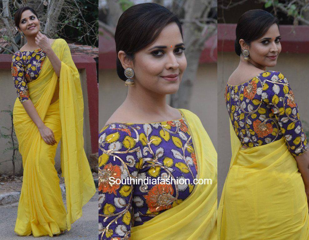 Kalamkari Saree Work Blouse Designs (171)