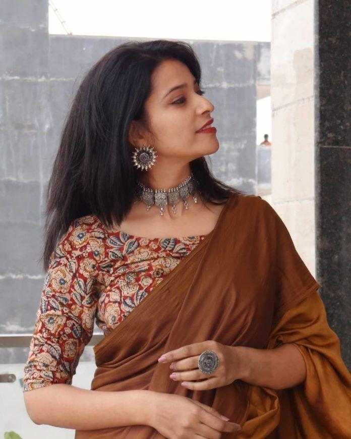 Kalamkari Saree Work Blouse Designs (172)