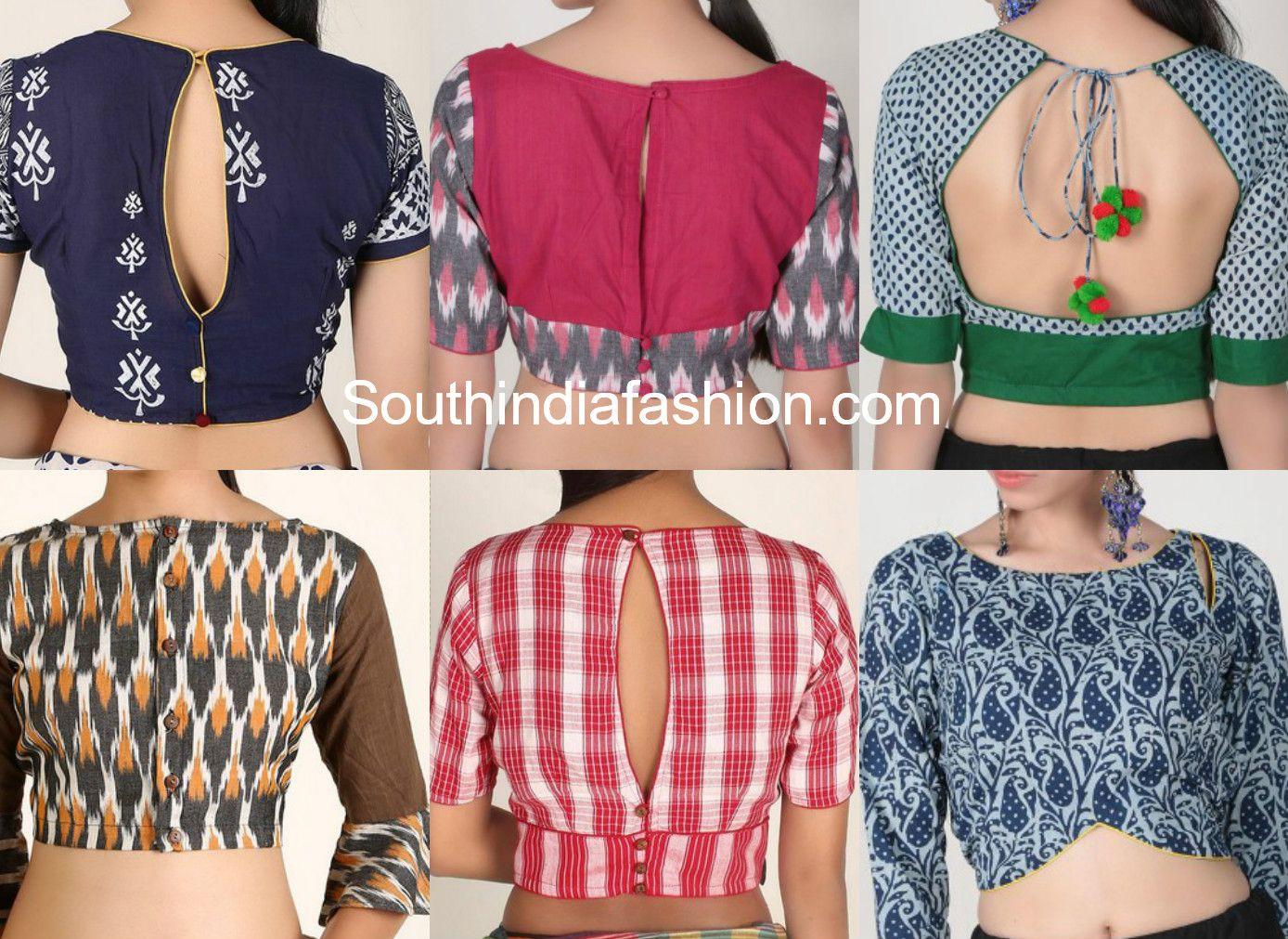 Kalamkari Saree Work Blouse Designs (174)