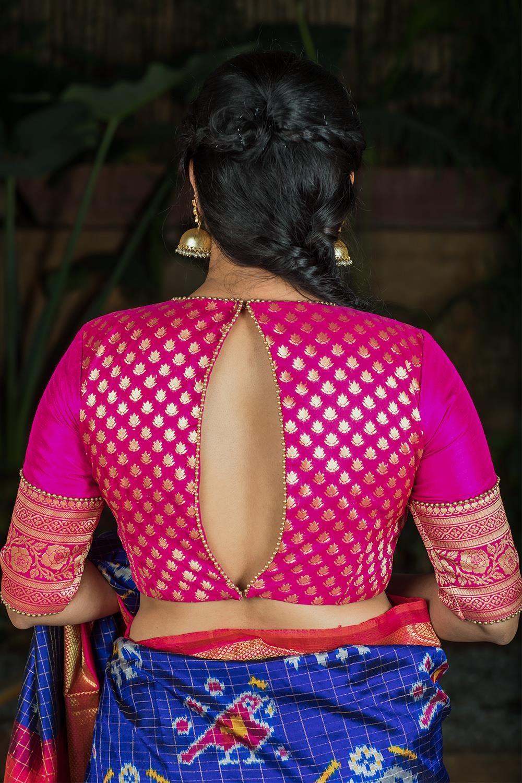 Kalamkari Saree Work Blouse Designs (175)