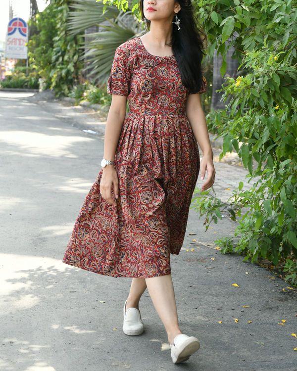 Kalamkari Saree Work Blouse Designs (176)