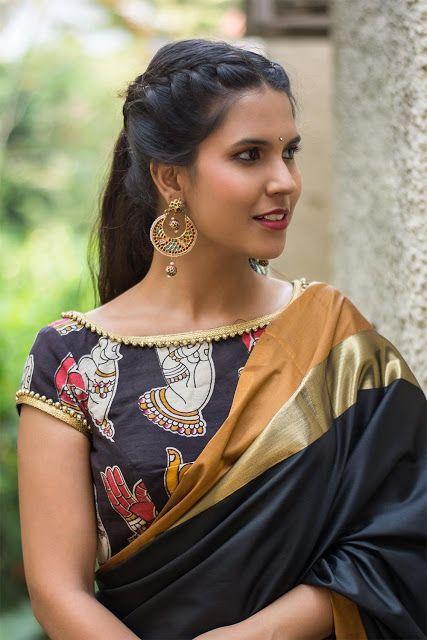 Kalamkari Saree Work Blouse Designs (177)