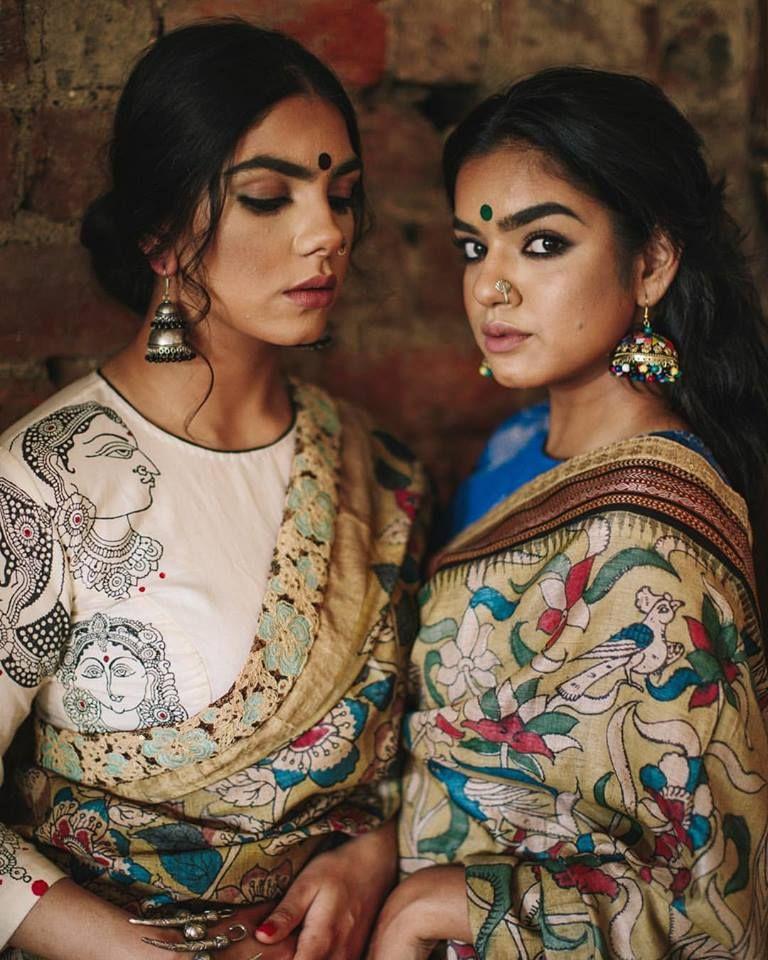 Kalamkari Saree Work Blouse Designs (178)