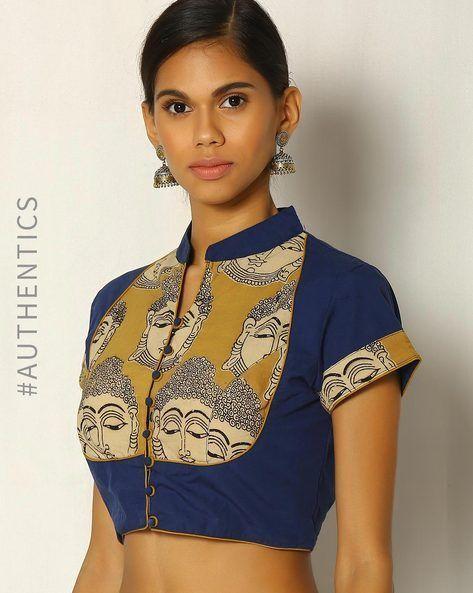 Kalamkari Saree Work Blouse Designs (179)