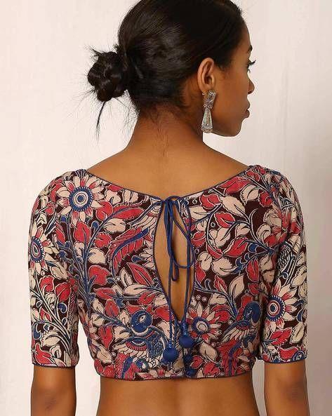Kalamkari Saree Work Blouse Designs (18)