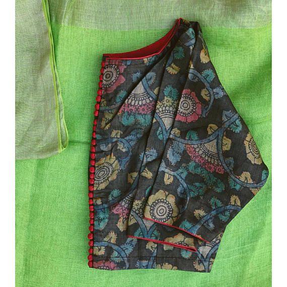 Kalamkari Saree Work Blouse Designs (180)