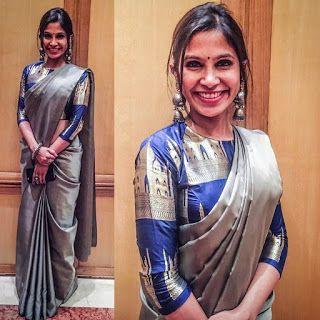 Kalamkari Saree Work Blouse Designs (181)