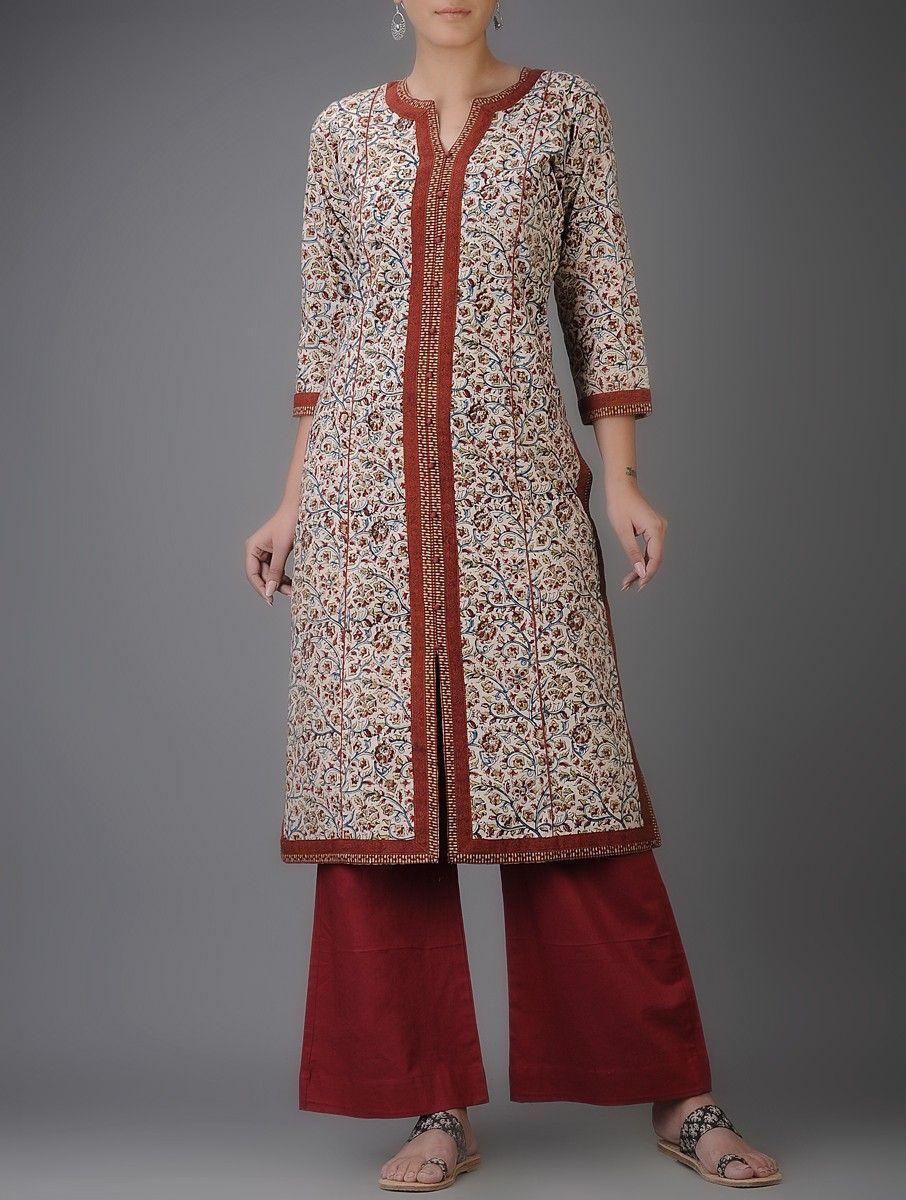 Kalamkari Saree Work Blouse Designs (182)