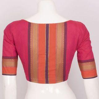 Kalamkari Saree Work Blouse Designs (184)