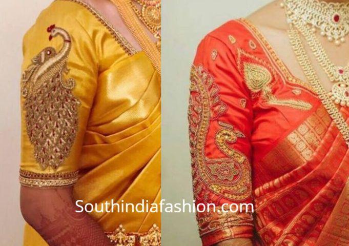 Kalamkari Saree Work Blouse Designs (187)