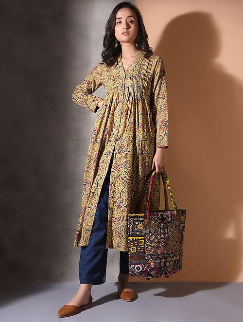 Kalamkari Saree Work Blouse Designs (188)