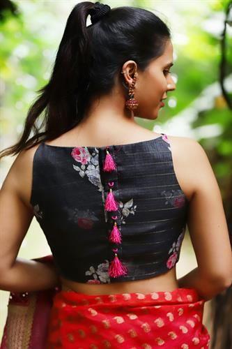 Kalamkari Saree Work Blouse Designs (189)