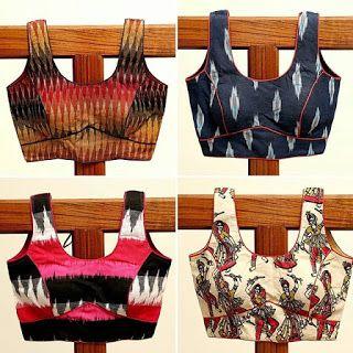 Kalamkari Saree Work Blouse Designs (195)