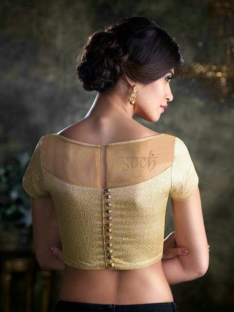 Kalamkari Saree Work Blouse Designs (197)