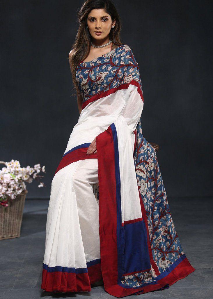 Kalamkari Saree Work Blouse Designs (2)
