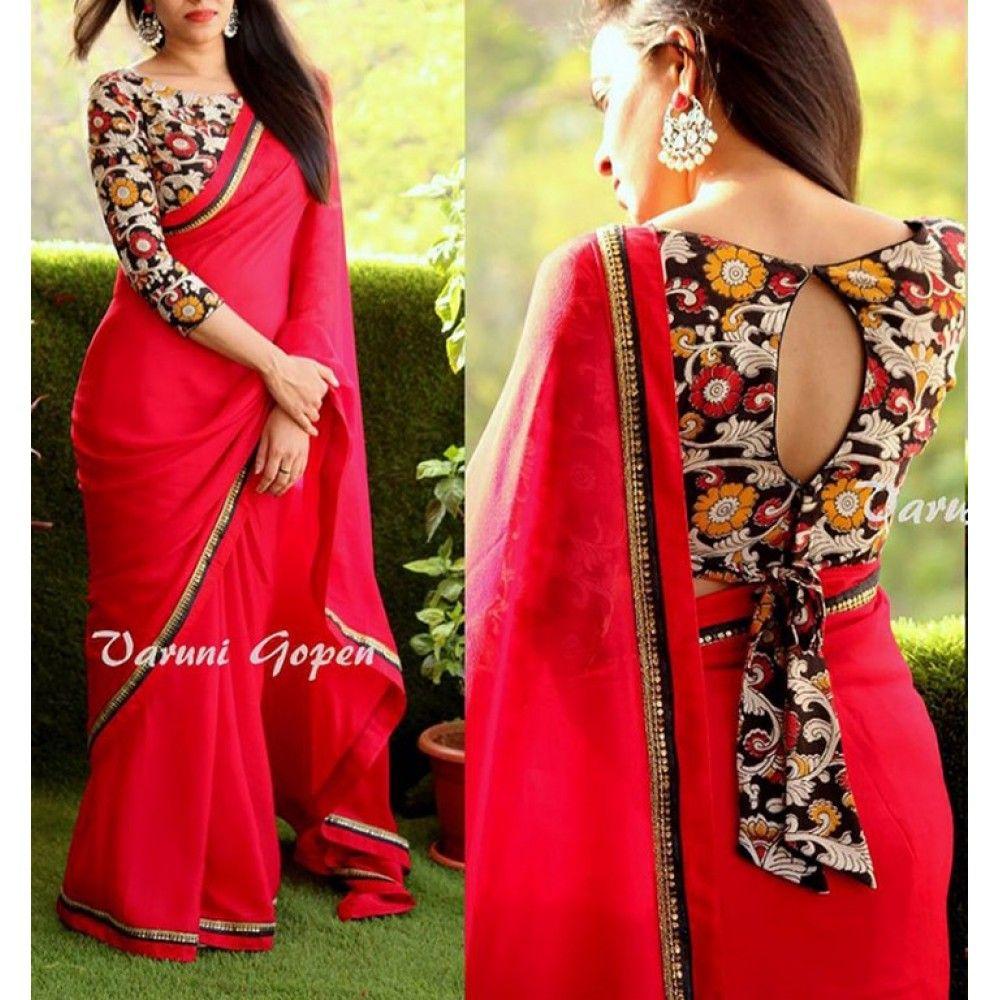 Kalamkari Saree Work Blouse Designs (20)