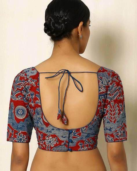 Kalamkari Saree Work Blouse Designs (201)