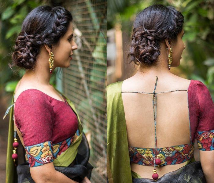 Kalamkari Saree Work Blouse Designs (205)