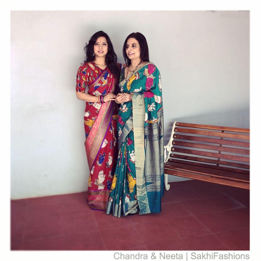 Kalamkari Saree Work Blouse Designs (207)