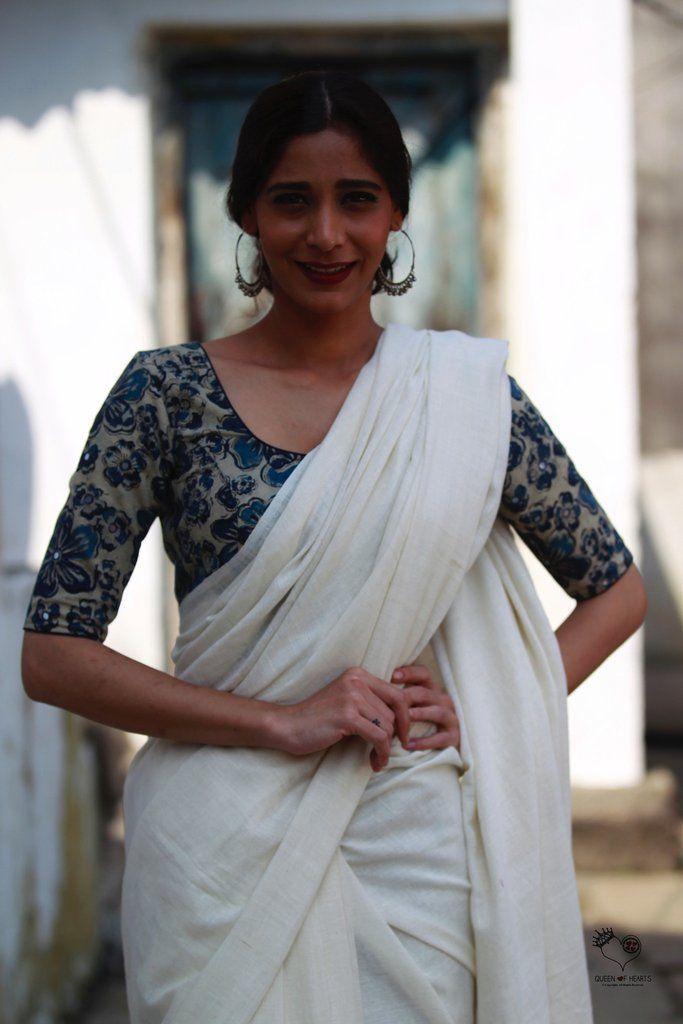 Kalamkari Saree Work Blouse Designs (21)