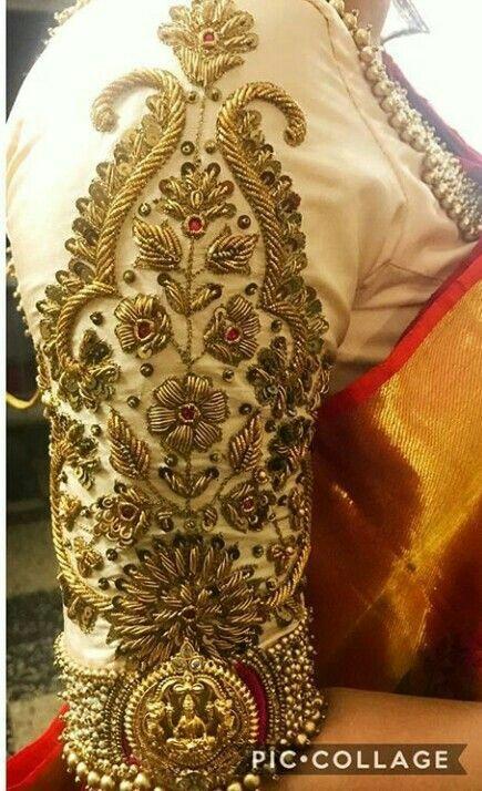Kalamkari Saree Work Blouse Designs (211)